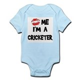 Kiss Me I'm A Cricketer Infant Creeper