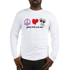 Peace, Love, and Wine Long Sleeve T-Shirt