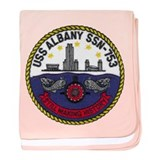 USS ALBANY baby blanket