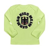 Kiss Me Im German Long Sleeve Infant T-Shirt