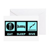 Eat sleep dive Greeting Card