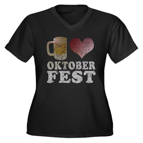 Beer love Oktoberfest Women's Plus Size V-Neck Dar