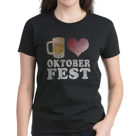 Beer love Oktoberfest Women's Dark T-Shirt