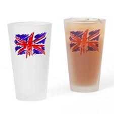 UK Flag Drinking Glass