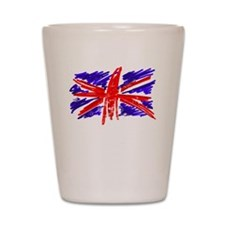 UK Flag Shot Glass