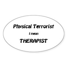 Unique Physical therapist Decal