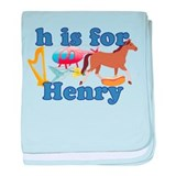 H is for Henry baby blanket