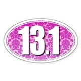 Fancy 13.1 Half Marathon Sticker (PINK)