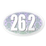 Fancy 26.2 Marathon Sticker (BLUE/GREEN)