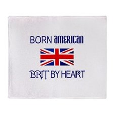 Born American, British by Hea Throw Blanket