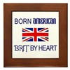 Born American, British by Hea Framed Tile