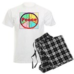 Abstract Peace Sign Men's Light Pajamas