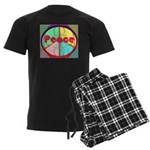 Abstract Peace Sign Men's Dark Pajamas