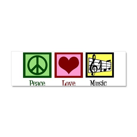 Peace Love Music Car Magnet 10 x 3
