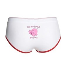 Pigs Are Friends Not Food Women's Boy Brief