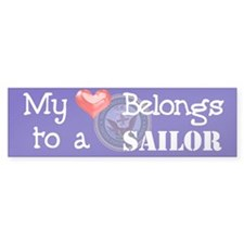 Heart Sailor Bumper Bumper Sticker