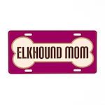 Elkhound Mom Pet Gift License Plate