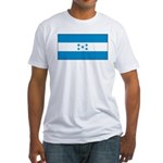 Honduras Honduran Blank Flag Fitted T-Shirt