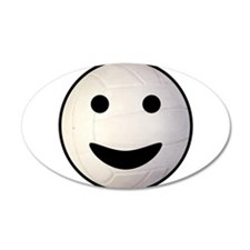 Volleyball Smiley Face 38.5 x 24.5 Oval Wall Peel