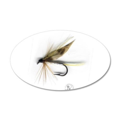 Cummins Wet Fly (March Brown) 38.5 x 24.5 Oval Wal