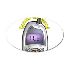 ICE- Case of Emergency 22x14 Oval Wall Peel