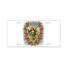 Angels and Roses Aluminum License Plate