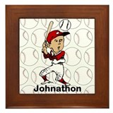 Personalized cute cartoon bas Framed Tile