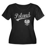 Poland Sport Style Women's Plus Size Scoop Neck Da