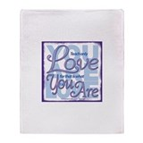 ACIM-You Are Love Throw Blanket