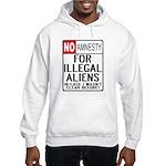 NO AMNESTY FOR ILLEGALS Hooded Sweatshirt
