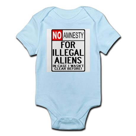 NO AMNESTY FOR ILLEGALS Infant Creeper