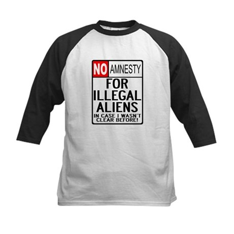 NO AMNESTY FOR ILLEGALS Kids Baseball Jersey