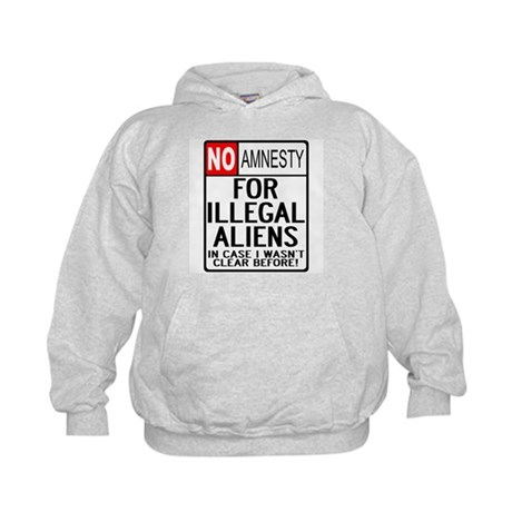 NO AMNESTY FOR ILLEGALS Kids Hoodie