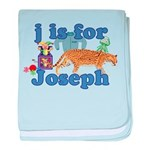 J is for Joseph baby blanket