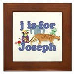 J is for Joseph Framed Tile