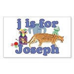 J is for Joseph Sticker (Rectangle 10 pk)