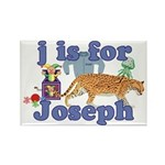 J is for Joseph Rectangle Magnet