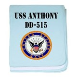 USS ANTHONY baby blanket