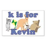 K is for Kevin Sticker (Rectangle 10 pk)
