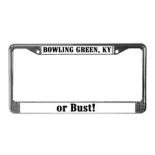 Bowling Green or Bust! License Plate Frame