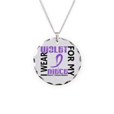 I Wear Violet 46 Hodgkin's Lymphoma Necklace
