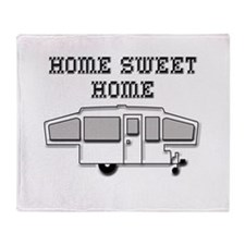 Home Sweet Home Pop Up Throw Blanket