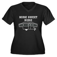 Home Sweet Home Pop Up Women's Plus Size V-Neck Da