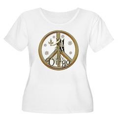 Aries Zodiac Peace Women's Plus Size Scoop Neck T-