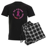 Breast Cancer Awareness Men's Dark Pajamas