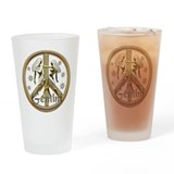 Gemini Zodiac Peace Drinking Glass
