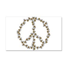 Peace Sign (made of bees) Car Magnet 20 x 12