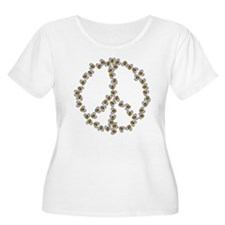 Peace Sign (made of bees) T-Shirt