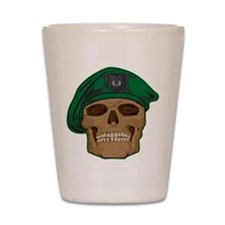 Green Beret Skull Shot Glass
