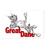 Great Dane Merle LB Postcards (Package of 8)